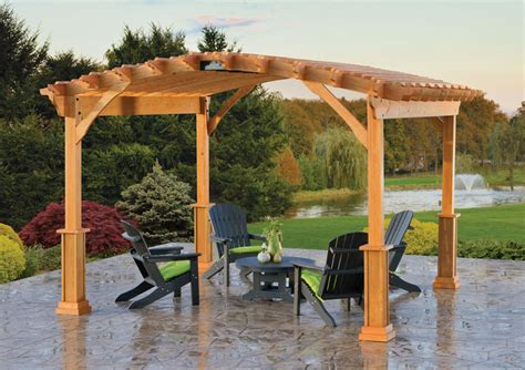 best wood for pergola riviera wood pergola amish yard