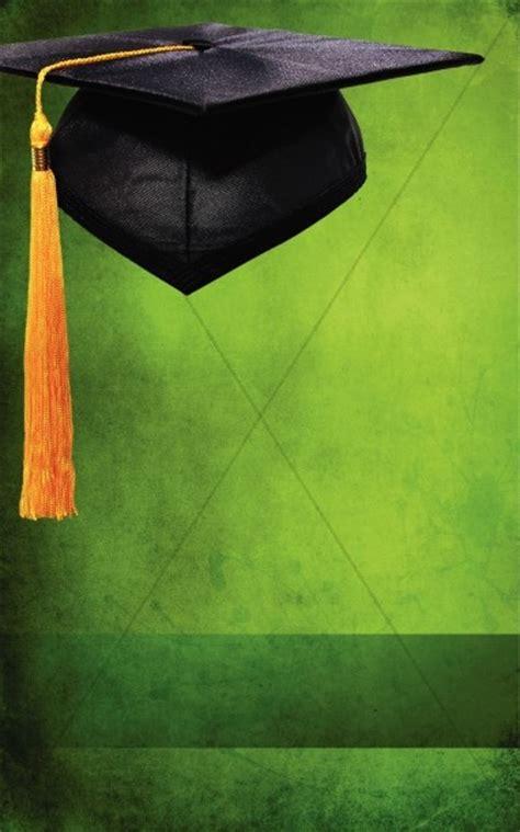 graduation green program cover