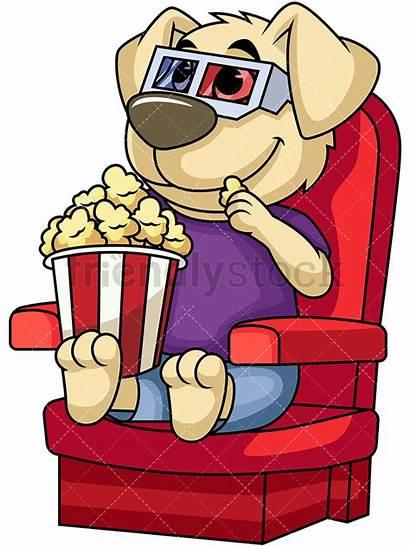 Watching Clipart Dog Movies Film Tv Cartoon