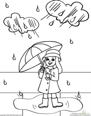 color rainy day rosie worksheet education 102 | color rainy day rosie people