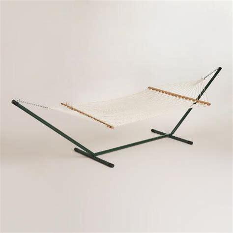 world market hammock rope hammock and metal stand world market