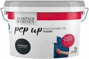 Farbe Für Fliesen : sch ner wohnen farbe renovierfarbe pep up anthrazit ~ Watch28wear.com Haus und Dekorationen