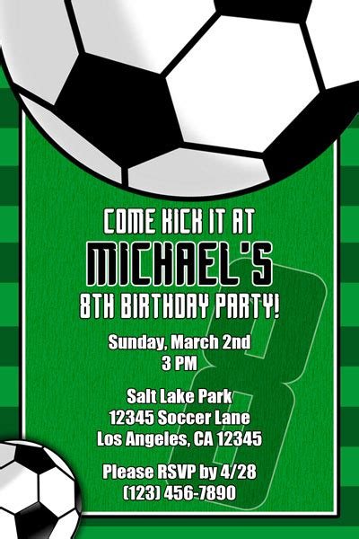 soccer invitations general prints