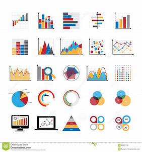 Graphic Charts Diagrams And Business Graphs Icons Set