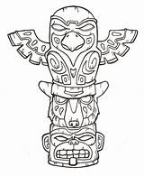 Totem Coloring Pole Pages Poles Printable Getcolorings Terrify sketch template