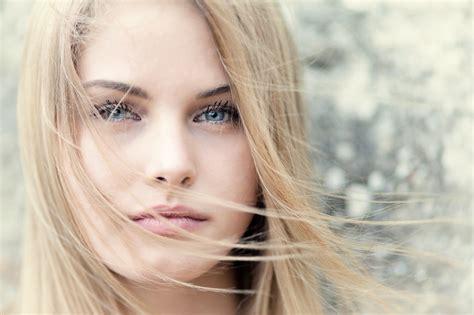 Women Hair Face Blonde Blue Eyes Wallpapers Hd