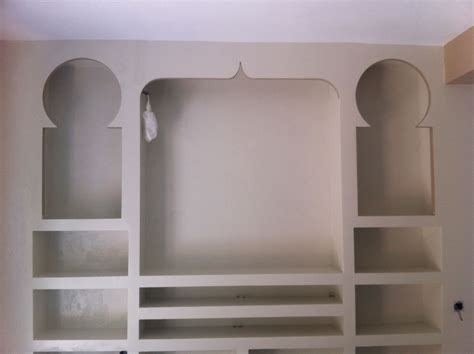 mueble arabe de salon de pladur pladur en