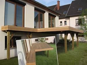 terrasse en bois sur pilotis en kit prix nos conseils With terrasse bois pilotis prix