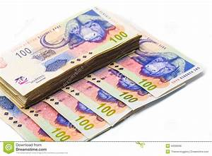 New South African 100 Rand Notes Stock Image - Image: 34036599