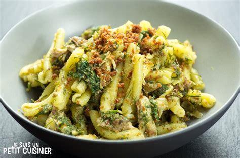 cuisine sicilienne recette de pâtes aux sardines pasta con le sarde