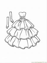 Clothing Coloring Printable Pages Gloves Goes Dresses Coloringpages101 Entertainment sketch template