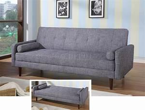 Modern fabric sofa bed convertible kk18 grey for Contemporary convertible sofa bed