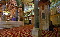 Interior of The Dome of the Rock - IslamicLandmarks.com
