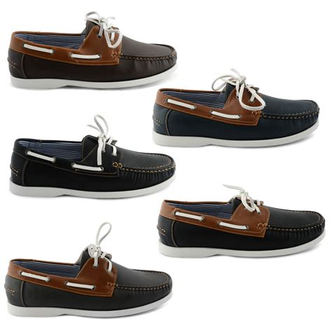 Deck Boat Uk by New Mens Leather Lace Up Deck Boat Casual Shoes Uk Size 7