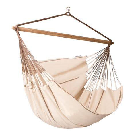 chaise hamac suspendu shop la siesta habana nougat fabric hammock chair at lowes com