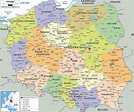 Political Map of Poland - Ezilon Maps