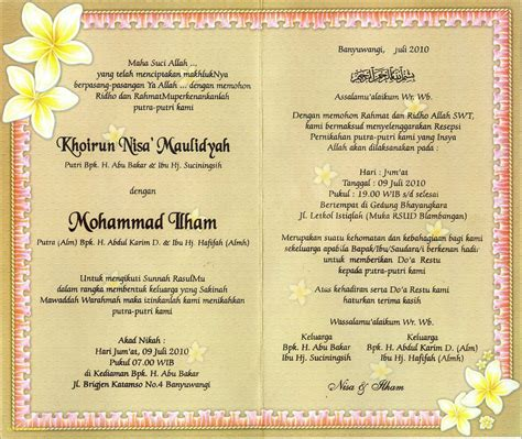 konsep desain kartu undangan  kata kata undangan pernikahan