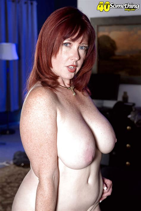 Freckled Redhead Heather Barron Unleashing Large Mature