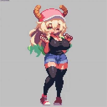 Pixel Dragon Anime Lucoa Maid Kobayashi Character