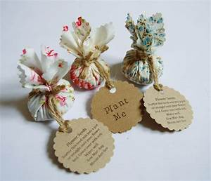 set of 10 country garden flower seed wedding favours with hand With flower seed wedding favors