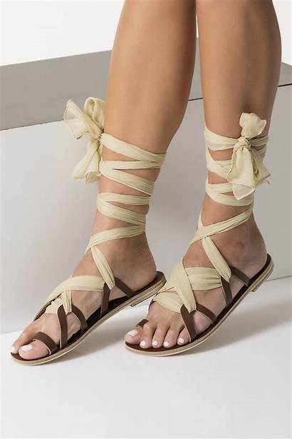 Sandals Leather Lace Laces Ophelia Silk Greek