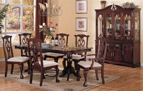 Chippendale Dark Cherry Classic Formal Dining Room Woptions