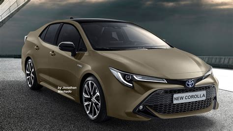 gen  toyota corolla rendered  multiple colours