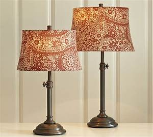 red paisley drum lamp shade pottery barn With drum lamp shades lighten up your day