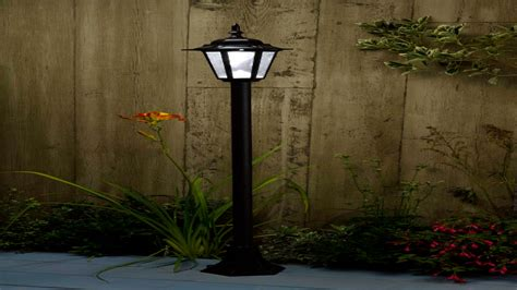 solar powered l post lights solar powered outdoor l