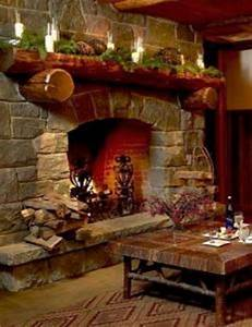 Christmas Fireplace Spruce Up Your Stone