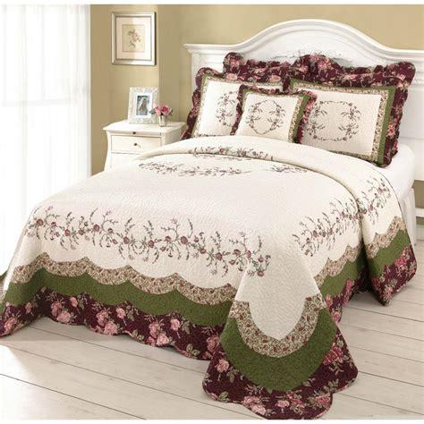 living ribbon patchwork embroidered duvet cover setkingsize modern heirloom embroidered 1 multicolor king bedspread set at lowes