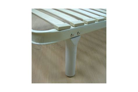 pieds de lit pour cadre metallique a lattes pied bois caribou literie a domicile
