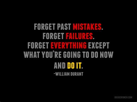 Inspiring Business Quote Fet Past Mistakes
