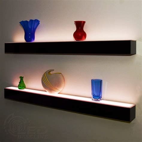1 tier led floating shelf led lighted floating bar