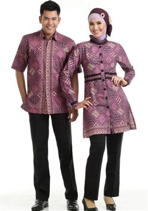 gaya fashion model baju batik sarimbit