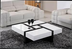 Table Basse Blanche Et Verre : table basse blanche avec rangement maison design ~ Preciouscoupons.com Idées de Décoration