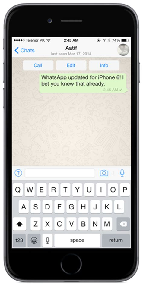 whatsapp for iphone whatsapp messenger for iphone 6 6 plus released get