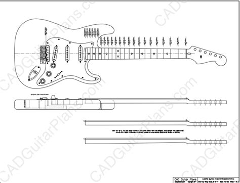The Pdf Template Fender Stratocaster Standerd Headstock by Pdf Stratocaster Electric Guitar Plan Fender Style Cad