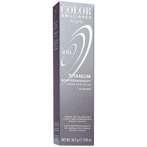 ion color titanium ion color brilliance brights semi permanent hair color