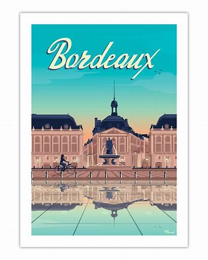 Bordeaux Poster Place Bourse Marcel Posters Travel