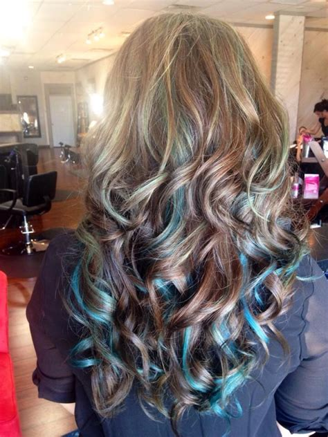 Best 25 Blue Hair Highlights Ideas On Pinterest Blue