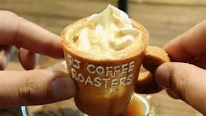 コーヒーカップまでポリポリ食べられる1日限定100個の「エコプレッソ」をアールジェイカフェで飲んできました ...
