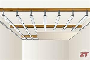 Pose D Un Faux Plafond En Ba13 : pose placo plafond zonetravaux bricolage d coration ~ Melissatoandfro.com Idées de Décoration