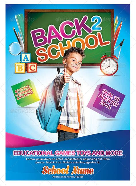 school poster template   psd vector ai eps