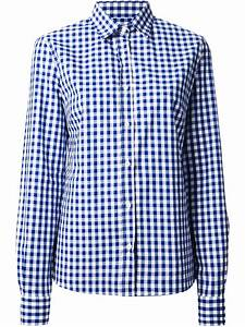stella jean gingham check shirt in blue lyst