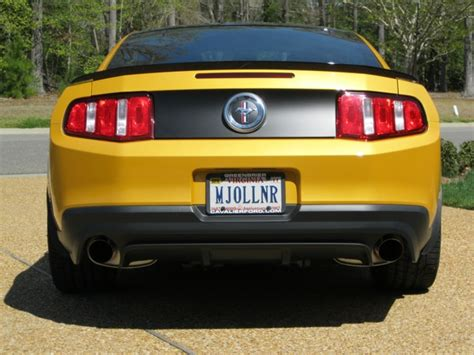 personalized license plates for your boss the mustang