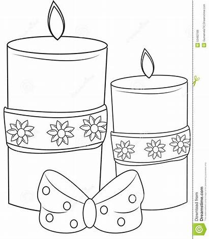 Coloring Candles Decorative