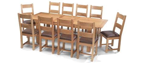 kitchen table with 10 chairs constance oak 180 230 cm extending dining table and 10
