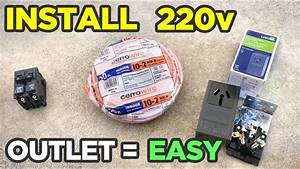 How To Install 220v Outlet In Garage The Easy Way   Run