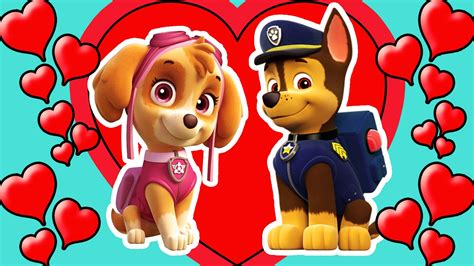 paw patrol chase  skye love  coloring page  kids hd   youtube